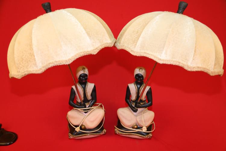Pair of Continental Art Co Lamps jennies