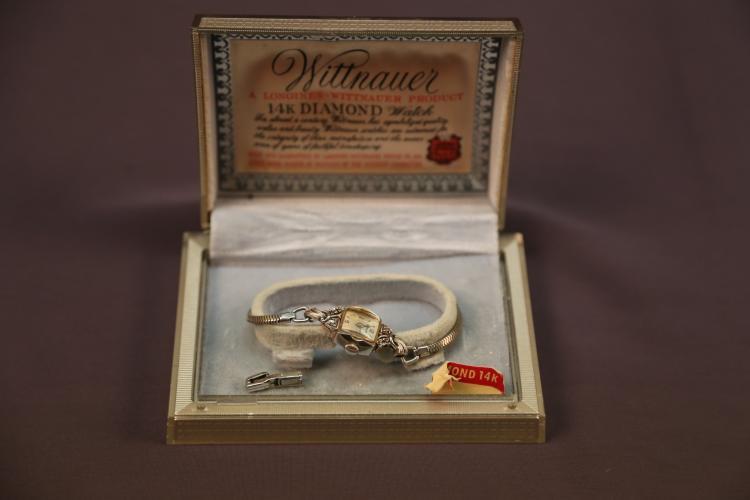 Longines-Wittnauer 14k diamond ladies watch in original box