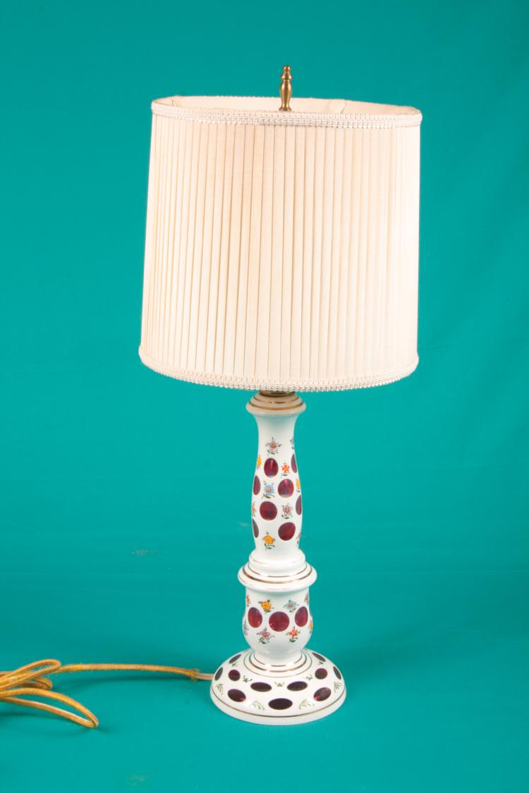 Bohemian Cut Glass Lamp