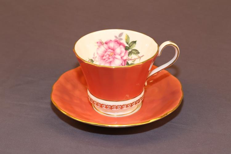 Ainsley tea cup and saucer made in England fine bone china