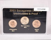 2003 Sacagawea Dollars Uncirculated & Proof set  in sealed case