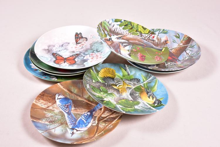 Lot Of 9 Decorative Plates