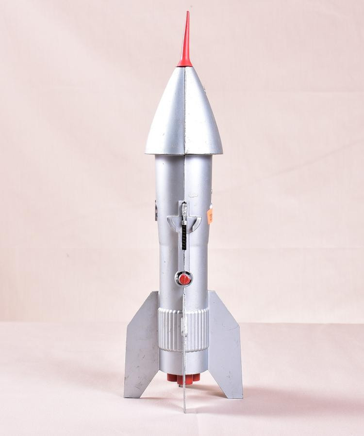 Vintage metal rocket ship coin bank - Rocket ship piggy bank ...