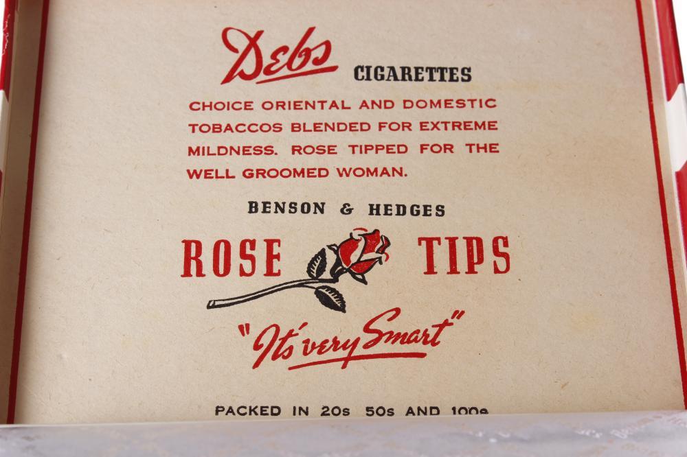 Debs Rose Tips Cigarettes By Benson & Hedges
