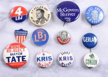 Lot of 12 Vintage Campaign Buttons