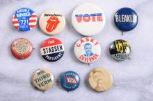 Lot of 11 Vintage Campaign Pins