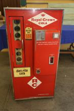Royal Crown Cola Vendolater soda vending machine