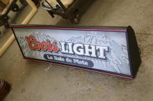Coors Light Light Up Sign.