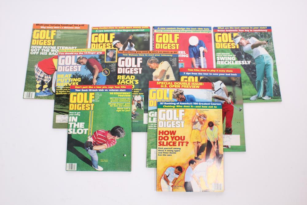 Golf Digest Magazines Lot Of Ten