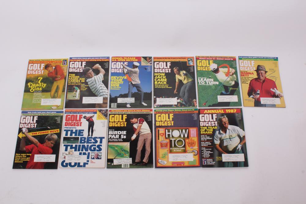 Golf Digest Magazine Lot of Eleven