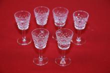 Set of 6 Waterford Cordial Glasses.