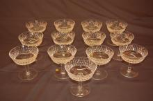 13 Waterford Crystal Champagne Glasses