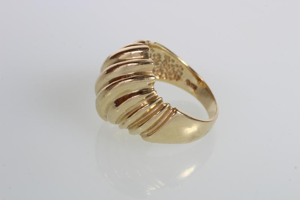 Gold Ring 14k Gold Dome Ring Size Seven