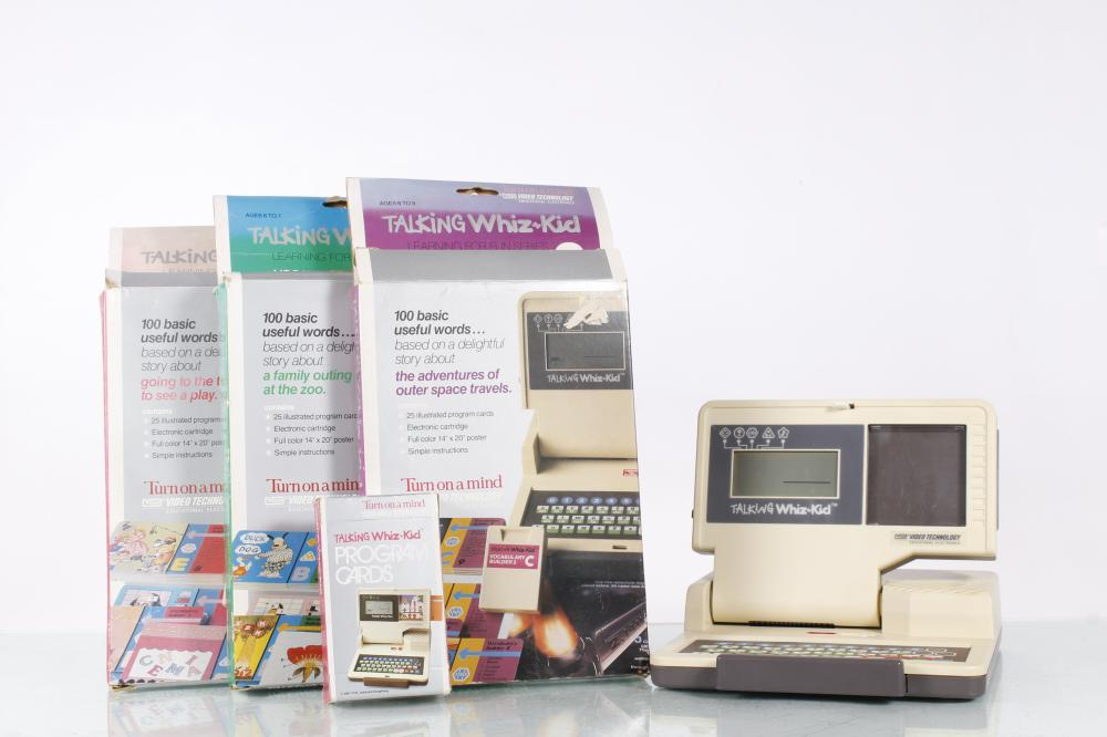 Talking Whiz-Kid Computer With Three Cartridges & Cards