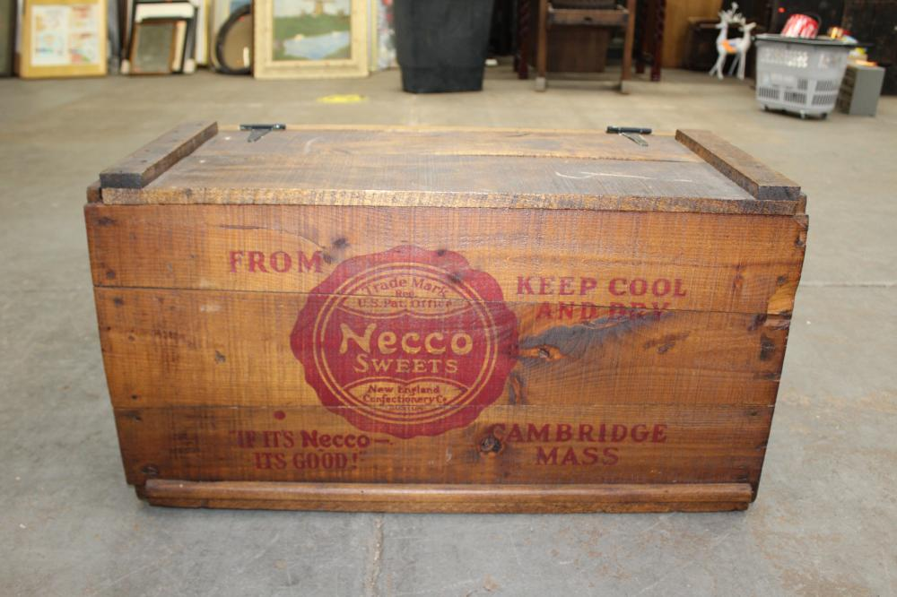 Necco Sweets Shipping Crate