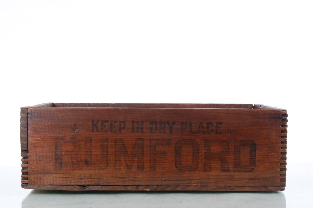 Rumford Baking Powder Wooden Crate
