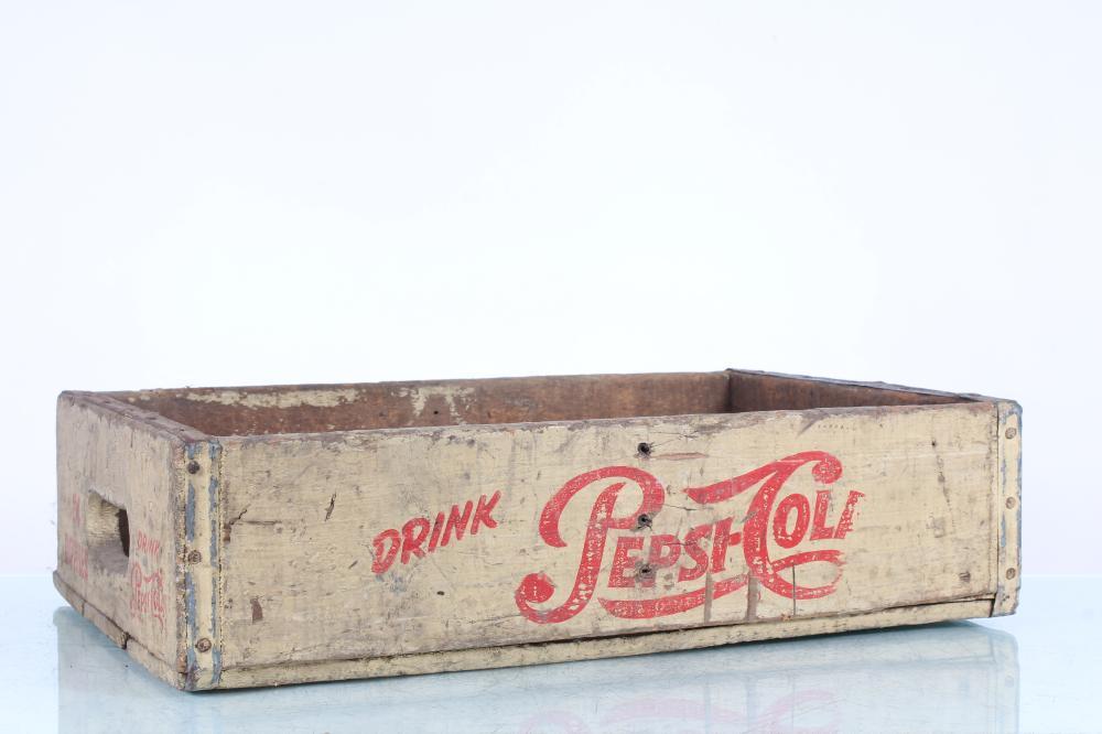 Pepsi-Cola Vintage Wooden Crate