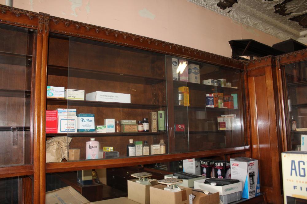 Dove - Lock Fixtures Finn, Iffland Co. Retail Pharmacy Set Up circa 1930