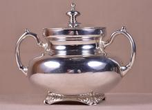 Solid Sterling Silver Sugar Bowl With Lid