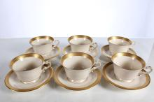 Lot of 6 Cup and Saucer Sets Bracelet Old Ivory Syracuse China