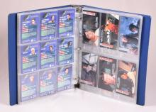 Binder With Mixed Star Trek Trading Cards