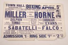 Vintage Boxing Poster, Fight Bill