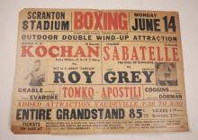 Vintage Boxing Poster , Fight Card