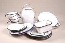 Lot of 27 Porcelain Enamelware