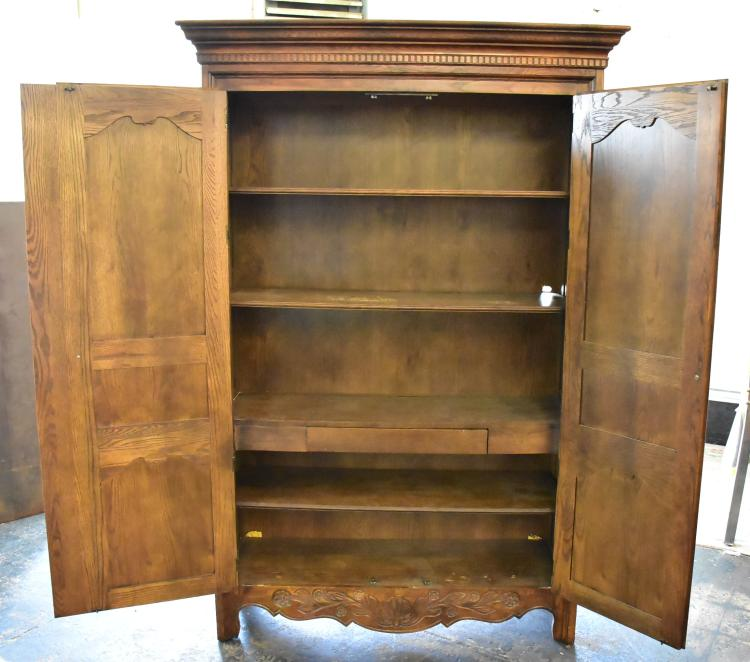 Solid Wood Armoire By Hickory Manufacturing Co
