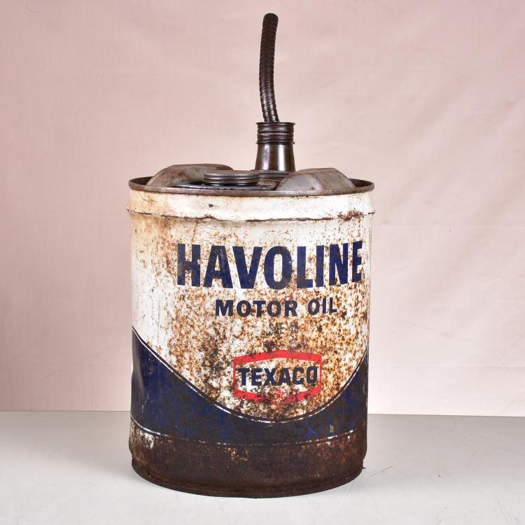 Vintage havoline motor oil 5gal can texaco with original sp for Is havoline motor oil good