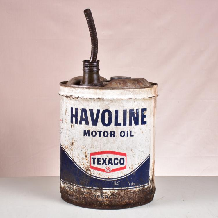 Vintage Havoline Motor Oil 5gal Can Texaco With Original Sp