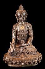 Nepalese Silver Healing Buddha Sculpture