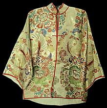 Chinese Hand Embroidered Silk Coat Dinner Jacket