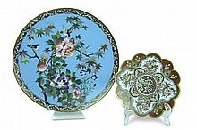 PAIR Vintage Asian Cloisonne Plate Lot