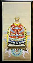 Gouache Ancestral Empress Chinese Scroll