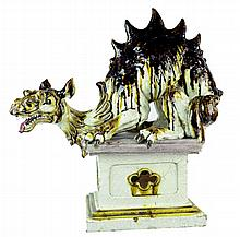 Chinese Dragon Garden Statue on Pedestal