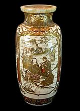 Antique Japanese Porcelain Satsuma Vase