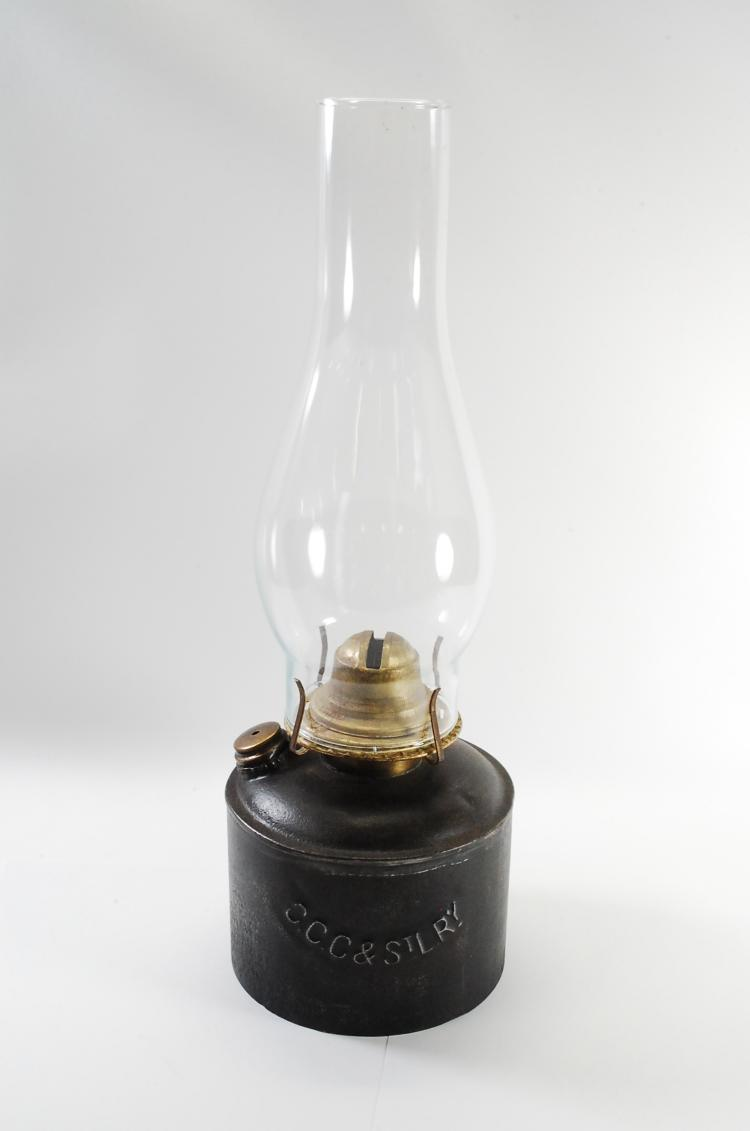 Antique CCHSTL Route RR Oil Lamp
