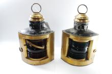 Antique The National Marine Lamp Co Boat Lanterns