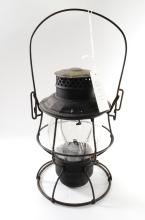 1909 Chicago & North Western Clear Embossed C&NWRy Globe Railroad Lantern