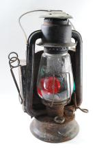 1911 Pritchard Strong Prisco Pony Tubular Railroad Lantern & Bat Globe