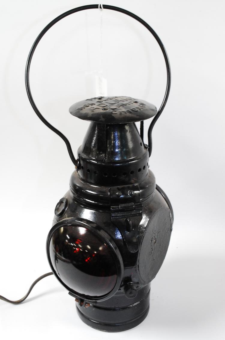 1906 Adlake Lamp 2 Way Red Lense Railroad Lantern