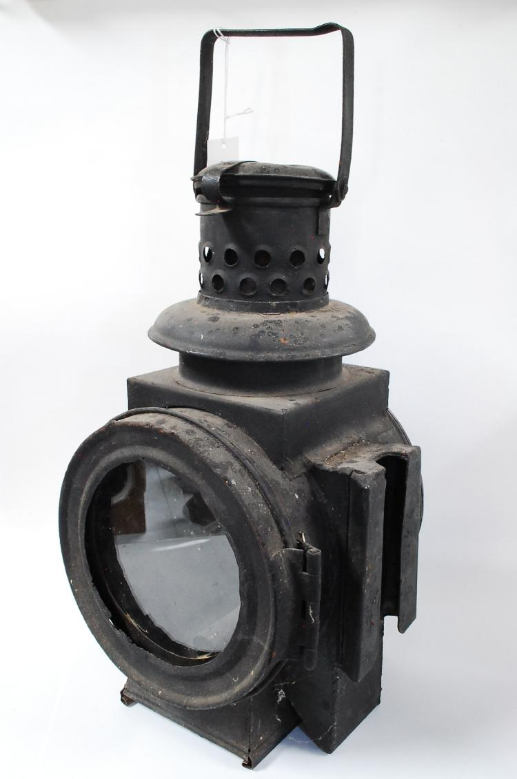 Antique Railroad Or Ship Oil Lamp Signal Lantern