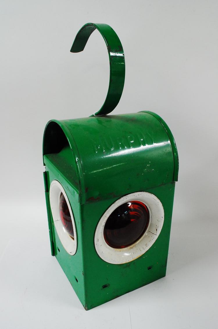 Vintage Green Murphy Railroad Signal Paraffin Lamp Lantern