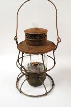 1913 Adams & Westlake Co Adlake Reliable Railroad Lantern Usa Embossed Globe