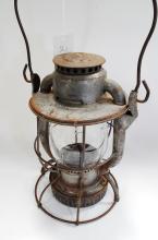 Antique Dietz Vesta NYCS Embossed Globe Railroad Lantern