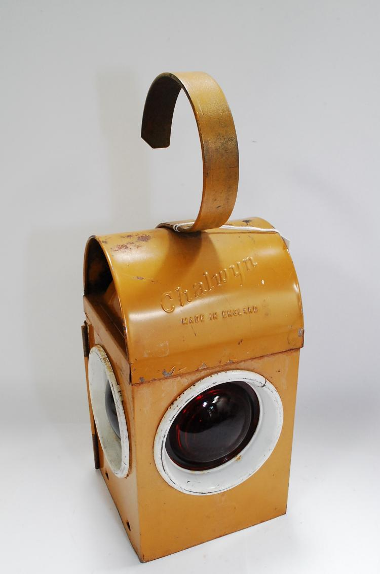 Vintage Yellow Chalwyn Railroad Signal Paraffin Lamp Lantern