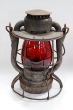 Antique Dietz Vesta BR&PRy Red Globe Railroad Lantern