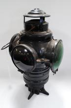 Antique Armspear Manufacturing Co New York Railroad 4 Way Switch Lantern
