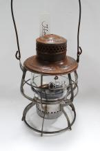 1908 Cpry Cpr Railroad Lantern Matching Tall Embossed Globe